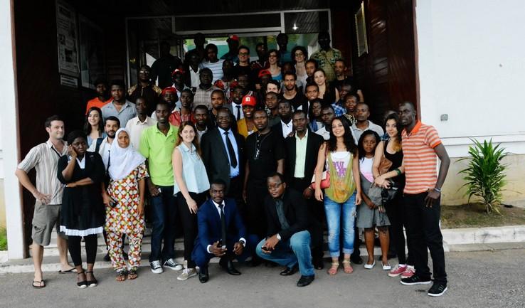 Les mondoblogueurs chez le quotidien Fraternité Matin à Abidjan photo:mondoblog.org