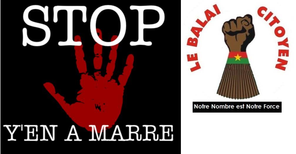 Logo des deux mouvements credit: diasporas.fr et facebook.com/balai citoyen